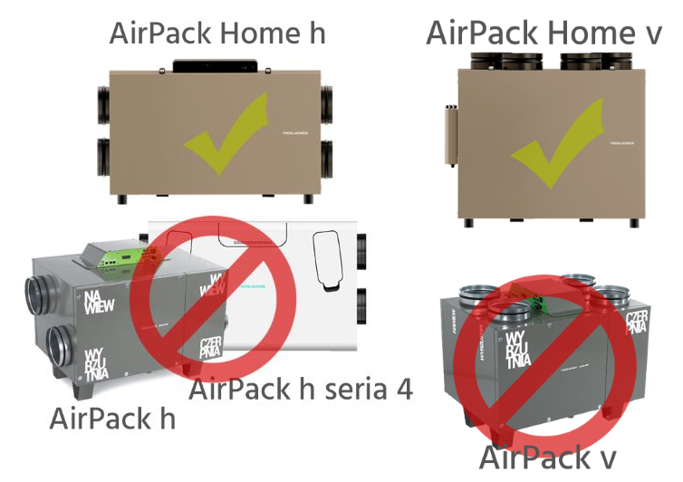 Filtry Airpack Home V & H