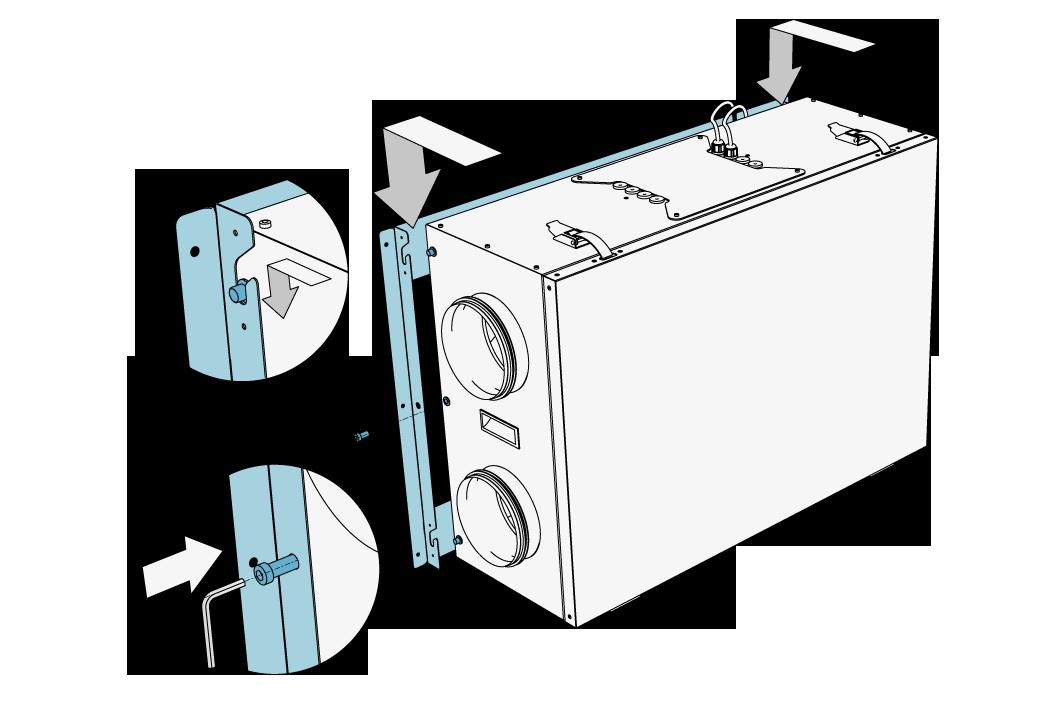 iZZi 300 ERV - konsola montażowa