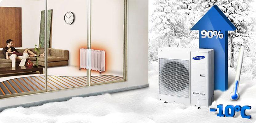 Jednostka zewnętrzna - pompa ciepla Samsung EHS Mono - bardziej wydajna