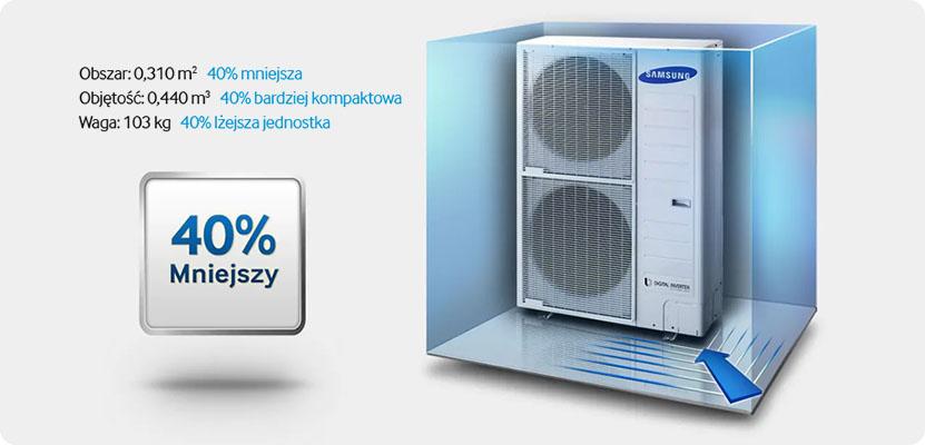 Jednostka zewnętrzna - pompa ciepla Samsung EHS Mono - 40% mniejsza od konkurencji