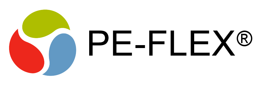 Logo PE-FLEX materiały wentylacyjne wentylacja mechaniczna