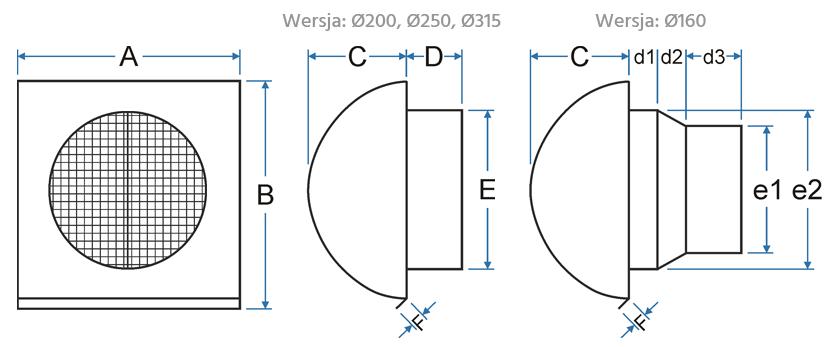 PE-FLEX - czerpnia / wyrzutnia - schemat