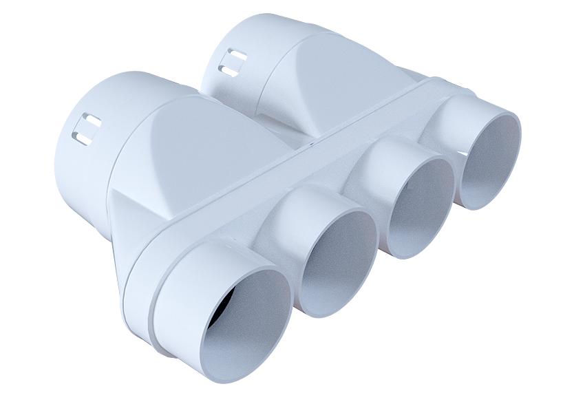 Przejściówka PE-FLEX 4x50/2x75