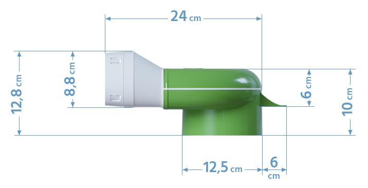 Wymiary skrzynki rozprężnej 2x75/125 podłogowej