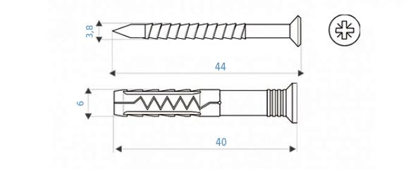 Kołek szybkiego montażu - rysunek