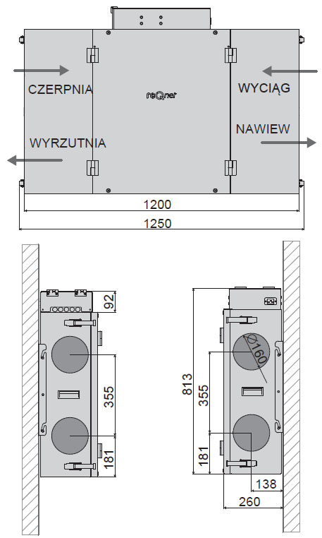 reQ F.350 - wymiary